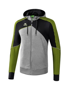 Premium One 2.0 Training Jacket with hood - Kids - grey marl/black/lime pop