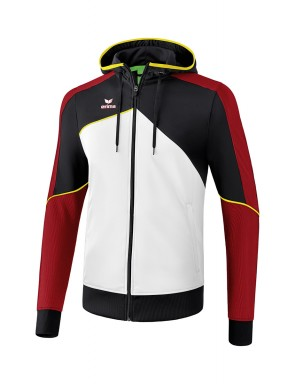 Premium One 2.0 Training Jacket with hood - Kids - white/black/red/yellow