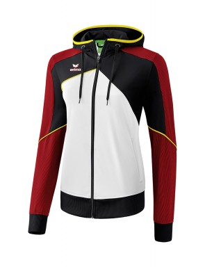 Premium One 2.0 Training Jacket with hood - Women - white/black/red/yellow
