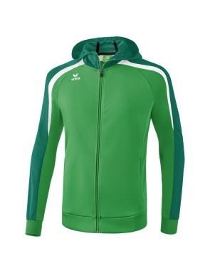Liga 2.0 Training Jacket with hood - Kids - smaragd/evergreen/white