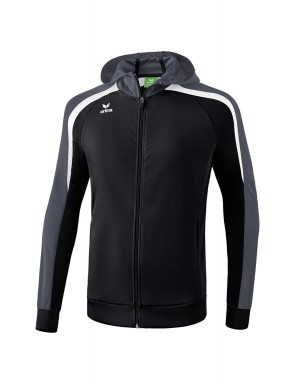 Liga 2.0 Training Jacket with hood - Kids - black/white/dark grey