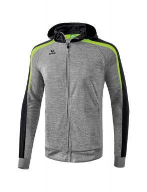 Liga 2.0 Training Jacket with hood - Kids - grey marl/black/green gecko