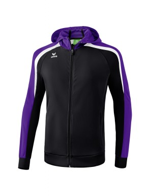 Liga 2.0 Training Jacket with hood - Kids - black/dark violet/white
