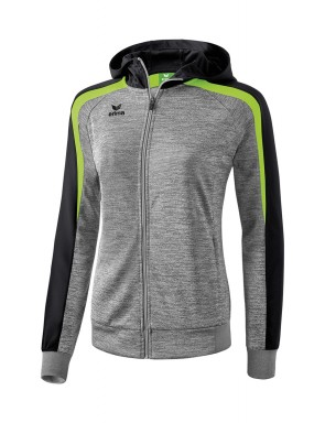 Liga 2.0 Training Jacket with hood - Women - grey marl/black/green gecko