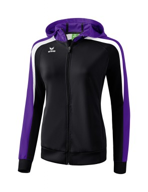 Liga 2.0 Training Jacket with hood - Women - black/dark violet/white
