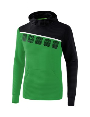5-C Hoody - Men - emerald/black/white