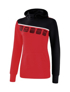 5-C Hoody - Women - red/black/white