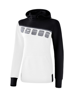 5-C Hoody - Women - white/black/dark grey