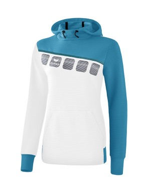 5-C Hoody - Women - white/oriental blue/colonial blue