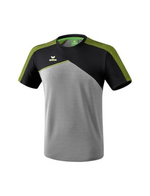 Premium One 2.0 T-shirt - Men - grey marl/black/lime pop