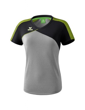 Premium One 2.0 T-shirt - Women - grey marl/black/lime pop