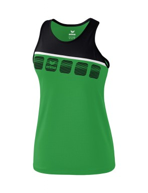 5-C Tank Top - Women - emerald/black/white