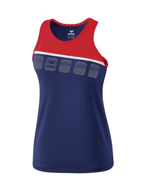5-C Tank Top - Women - new navy/red/white