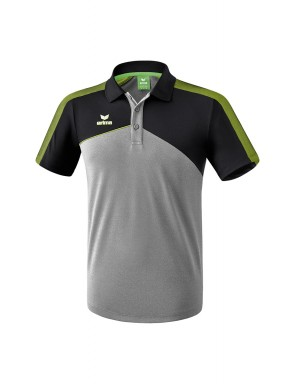 Premium One 2.0 Polo-shirt - Kids - grey marl/black/lime pop