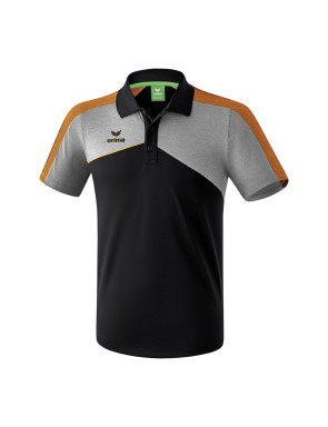 Premium One 2.0 Polo-shirt - Kids - black/grey marl/neon orange