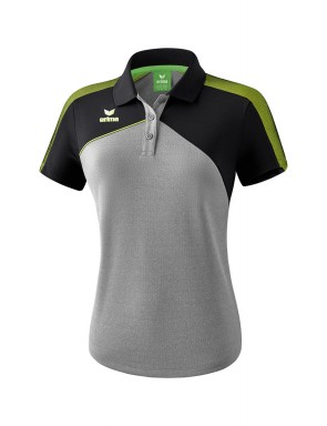 Premium One 2.0 Polo-shirt - Women - grey marl/black/lime pop