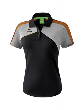 Premium One 2.0 Polo-shirt - Women - black/grey marl/neon orange