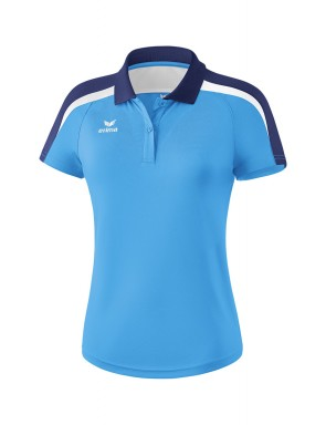 Liga 2.0 Polo-shirt - Women - curacao/new navy/white