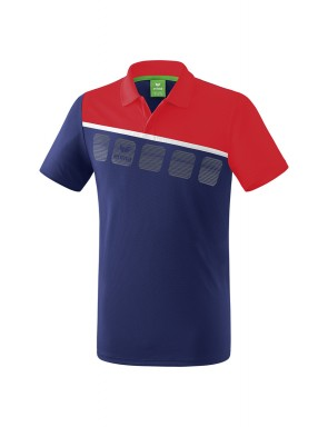 5-C Polo-shirt - Kids - new navy/red/white