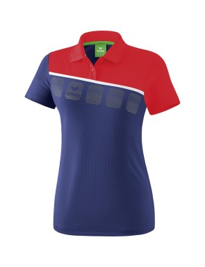 5-C Polo-shirt - Women - new navy/red/white