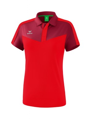 Squad Polo-shirt - Women - bordeaux/red