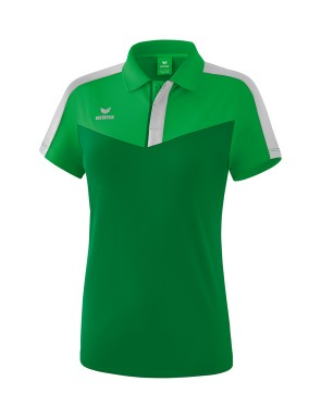 Squad Polo-shirt - Women - fern green/emerald/silver grey