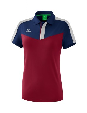 Squad Polo-shirt - Women - new navy/bordeaux/silver grey