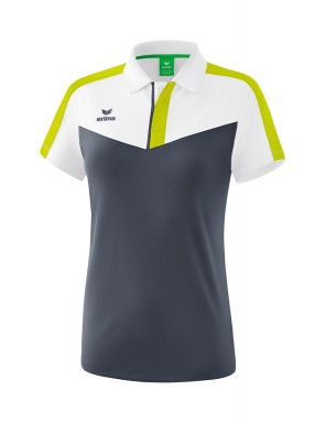 Squad Polo-shirt - Women - white/slate grey/bio lime