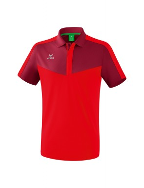 Squad Polo-shirt - Men - bordeaux/red
