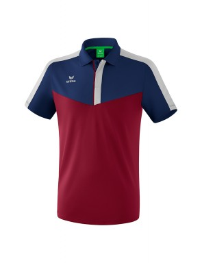 Squad Polo-shirt - Men - new navy/bordeaux/silver grey