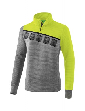 5-C Training Top - Kids - grey marl/lime pop/black