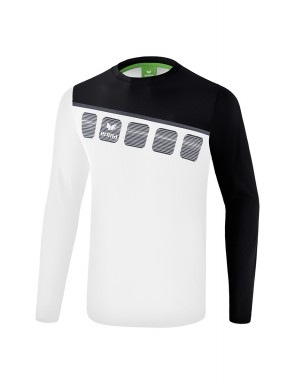 5-C Longsleeve - Men - white/black/dark grey