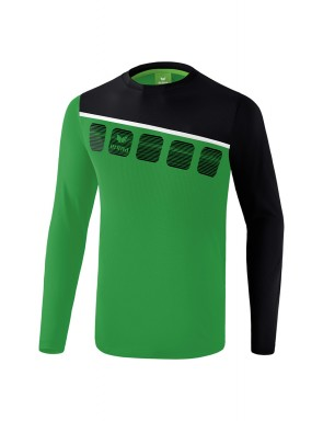 5-C Longsleeve - Kids - emerald/black/white