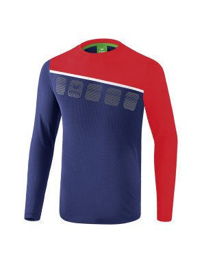 5-C Longsleeve - Men - new navy/red/white