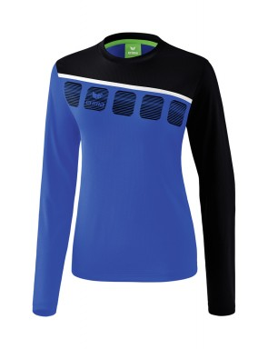 5-C Longsleeve - Women - new royal/black/white