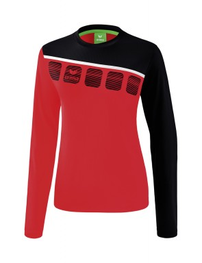 5-C Longsleeve - Women - red/black/white