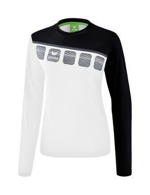 5-C Longsleeve - Women - white/black/dark grey