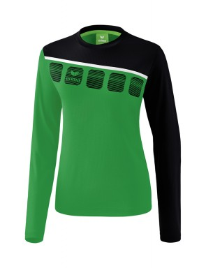 5-C Longsleeve - Women - emerald/black/white