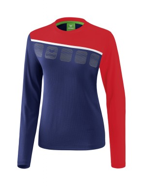 5-C Longsleeve - Women - new navy/red/white