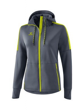 Softshell jacket - Women - dark grey/bio lime