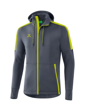 Softshell jacket - Men - dark grey/bio lime