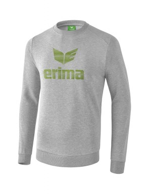 Essential Sweatshirt - Kids - light grey marl/twist of lime