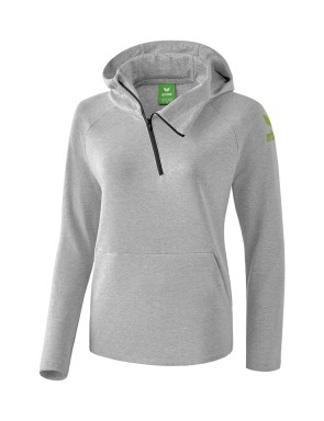 Essential Hoody - Women - light grey marl/twist of lime