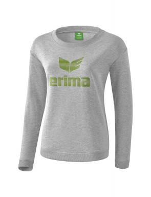 Essential Sweatshirt - Women - light grey marl/twist of lime