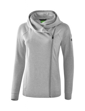 Essential Hooded Sweat Jacket - Women - light grey marl/black