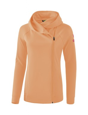 Essential Hooded Sweat Jacket - Women - peach/love rose