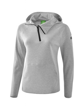Essential Hoody - Women - light grey marl/black