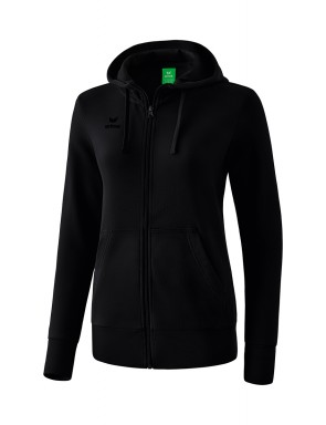 Hooded Sweat Jacket - Women - black