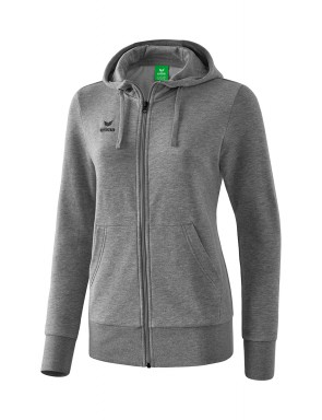 Hooded Sweat Jacket - Women - grey marl