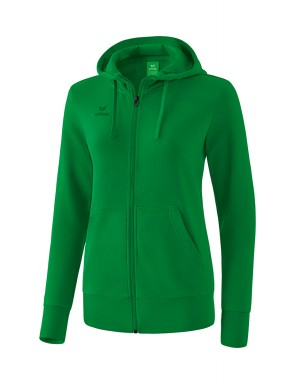 Hooded Sweat Jacket - Women - emerald